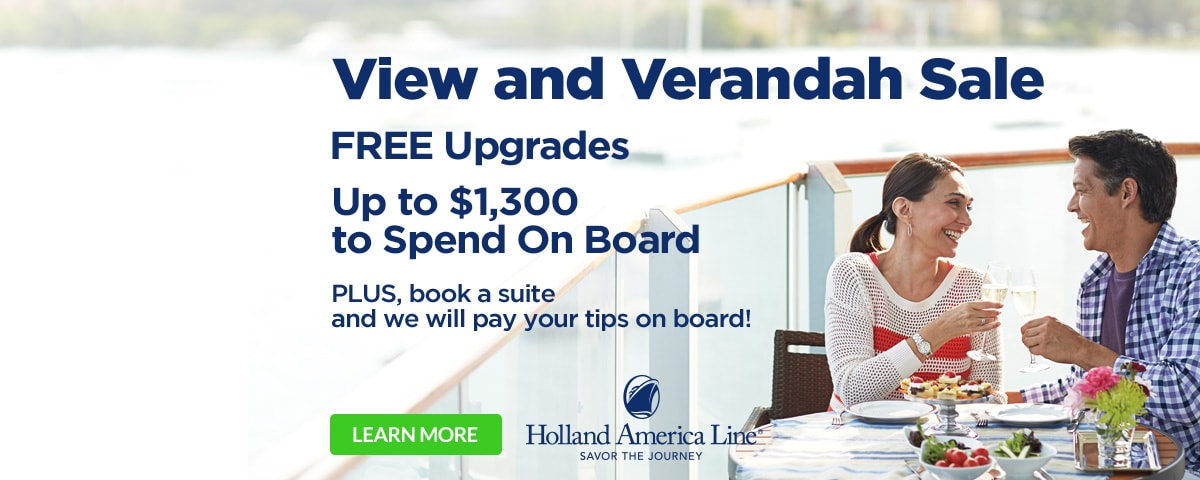 Holland America View and Verandah Sale