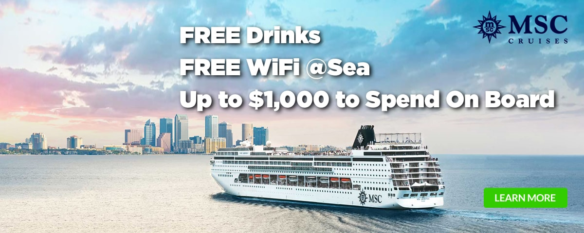 All In: Free Drinks + Free WiFi @Sea on MSC Cruises
