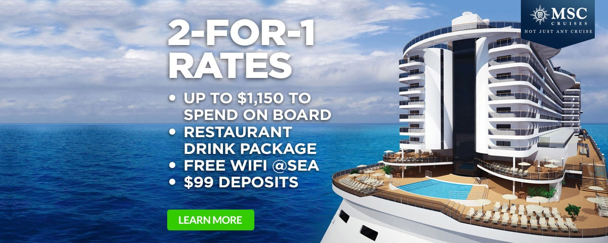 MSC Seaside 2-for-1 PLUS More!