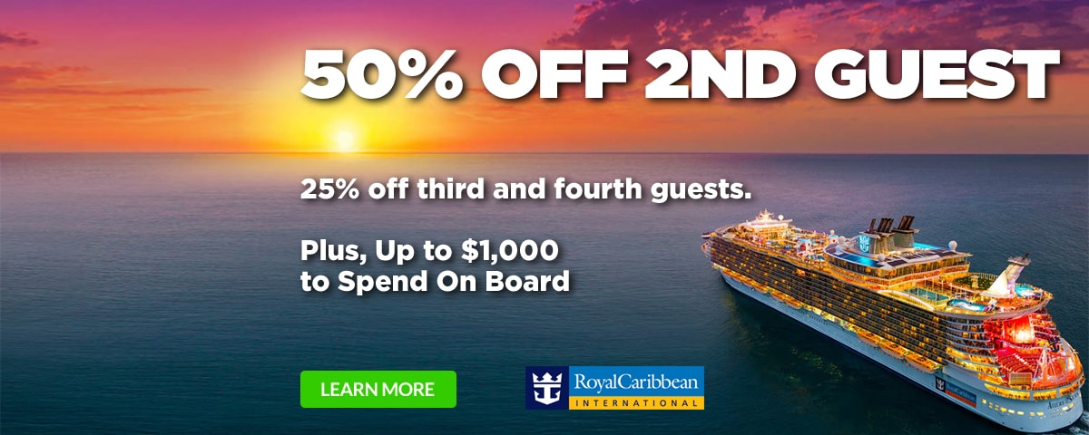 Royal Caribbean 50 Off