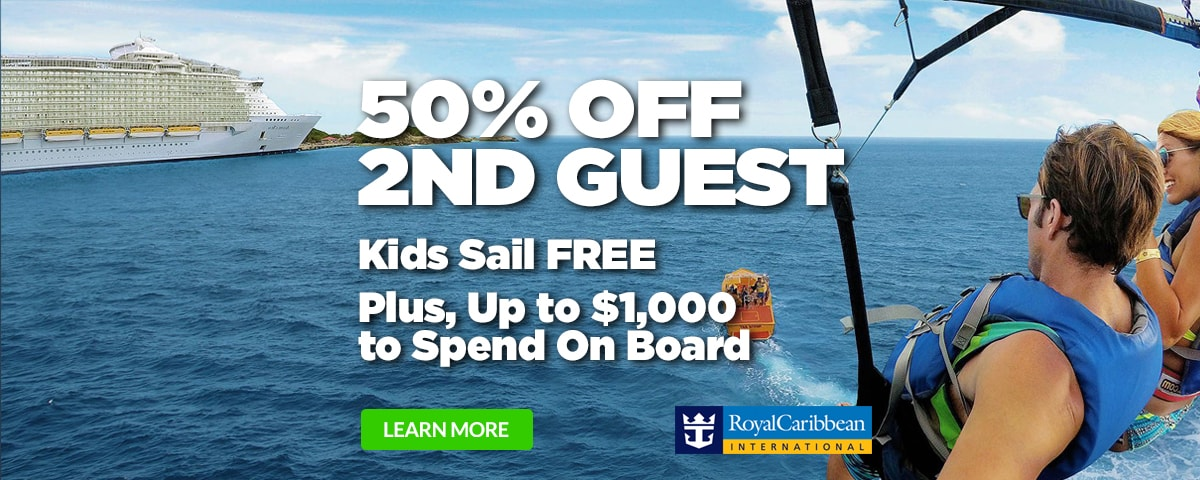 Royal Caribbean 50% Off 2nd Guest