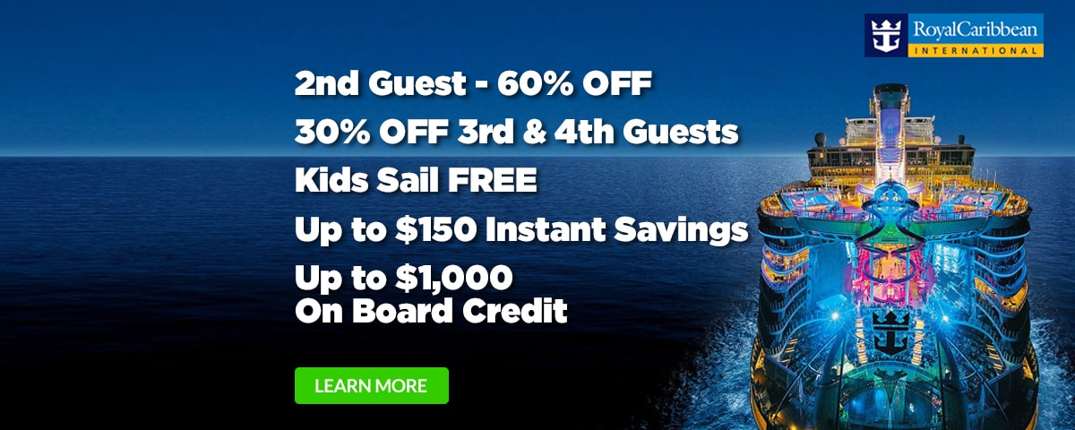 Royal Caribbean 60% Off Second Guest