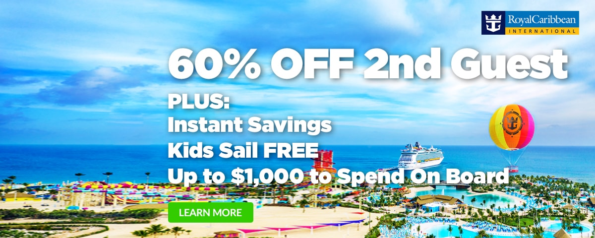 Royal Caribbean - 60% Off 2nd Guest